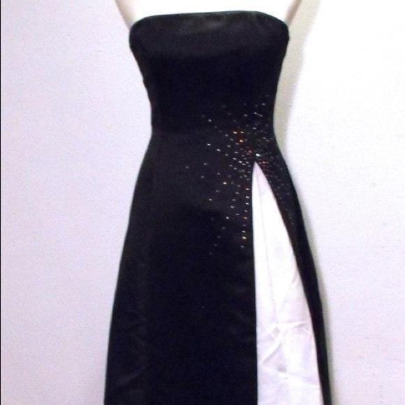 Scott McClintock Dresses | Vintage Black And White Starburst Prom ...